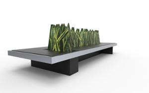 street furniture, ławki miejskie, planter, bench, upholstered seating, wood seating