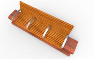 street furniture, ławki miejskie, concrete, smooth concrete, corten, for elderly people, seating, modular, wood backrest, armrest, wood seating