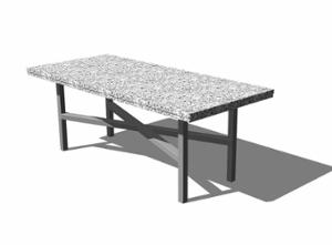 street furniture, ławki miejskie, granite, other, table