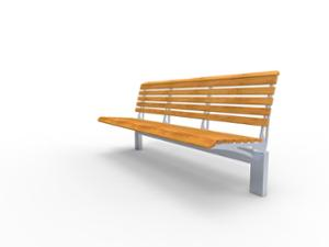street furniture, ławki miejskie, for elderly people, seating, wood backrest, wood seating