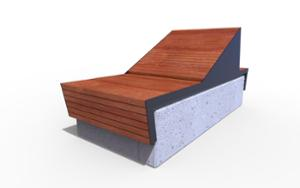 street furniture, ławki miejskie, concrete, smooth concrete, bench, seating, chaise longue