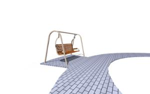 street furniture, ławki miejskie, swing, other, seating, curved
