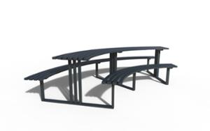 street furniture, ławki miejskie, park grill, other, picnic set, bench, curved, table