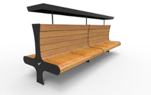 street furniture, ławki miejskie, double-sided , seating, logo, wood backrest, wood seating, high backrest
