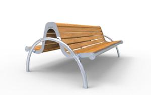 street furniture, ławki miejskie, double-sided , seating, logo, wood backrest, armrest, wood seating