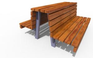 street furniture, ławki miejskie, double-sided , seating, logo, wood backrest, wood seating
