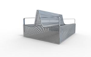 street furniture, ławki miejskie, antiterror, double-sided , seating, steel backrest, steel seating, vandal-resistant