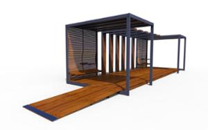 street furniture, ławki miejskie, other, seating, accessible for disabled, pergola, small table, canopy