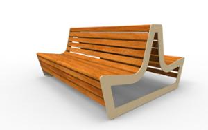 street furniture, ławki miejskie, double-sided , seating, wood backrest, wood seating