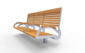 street furniture, ławki miejskie, seating, modular, wood backrest, armrest, wood seating