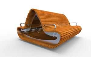 street furniture, ławki miejskie, double-sided , seating, wood backrest, armrest, wood seating