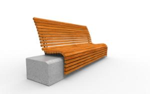 street furniture, ławki miejskie, concrete, smooth concrete, granite, seating, wood backrest, wood seating, high backrest