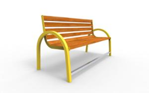 street furniture, ławki miejskie, for elderly people, seating, wood backrest, armrest, wood seating