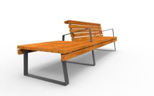 street furniture, ławki miejskie, bench, seating, modular, wood backrest, armrest, wood seating