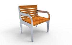 street furniture, chair, for single person, seating, wood backrest, armrest, wood seating, vintage