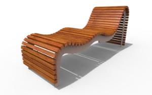 street furniture, ławki miejskie, bench, seating, chaise longue, wood seating