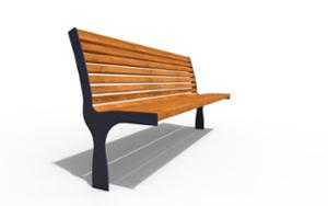street furniture, ławki miejskie, seating, logo, wood backrest, wood seating