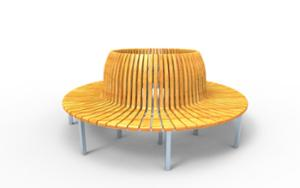 street furniture, ławki miejskie, seating, curved, scandinavian line, high backrest