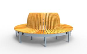 street furniture, ławki miejskie, 230v and/or usb socket, seating, curved, high backrest
