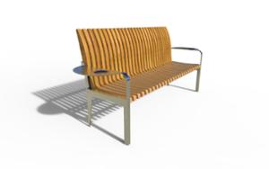 street furniture, ławki miejskie, seating, armrest, scandinavian line, small table