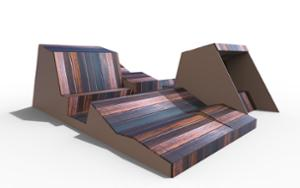 street furniture, ławki miejskie, double-sided , bench, seating, chaise longue, wood backrest, wood seating, multipurpose