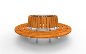 street furniture, ławki miejskie, seating, wood backrest, curved, wood seating