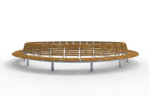 street furniture, ławki miejskie, price per metre, length measured on longer side, seating, modular, wood backrest, curved, wood seating