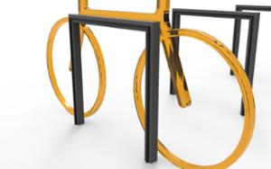 street furniture, ławki miejskie, rubber protection, with bike frame protection, bicycle stand, cycle rack