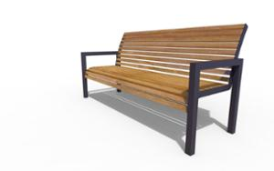 street furniture, ławki miejskie, seating, wood backrest, armrest, scandinavian line, wood seating