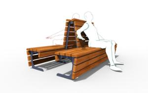 street furniture, ławki miejskie, double-sided , seating, wood backrest, wood seating, high backrest