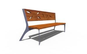 street furniture, ławki miejskie, seating, steel backrest, wood seating, vintage