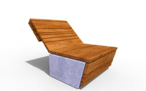 street furniture, ławki miejskie, concrete, smooth concrete, chair, for single person, seating, chaise longue