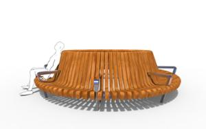 street furniture, ławki miejskie, price per metre, length measured on longer side, seating, armrest, curved
