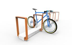 street furniture, concrete, smooth concrete, rubber protection, bicycle stand, cycle rack, multiple stands, free-standing