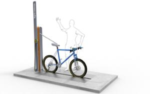 street furniture, ławki miejskie, other, bike wash station, bicycle stand, bicycle service station