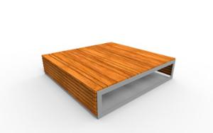 street furniture, ławki miejskie, double-sided , bench, modular, wood seating
