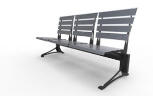 street furniture, ławki miejskie, seating, modular, steel seating