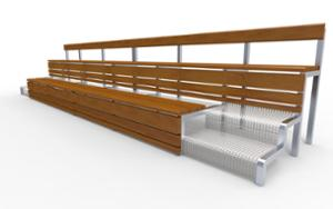 street furniture, ławki miejskie, bench, seating, wood backrest, wood seating, shade