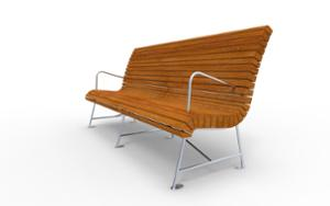 street furniture, ławki miejskie, seating, wood backrest, armrest, wood seating