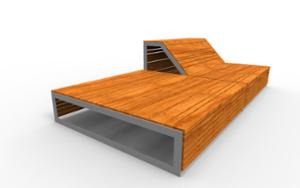 street furniture, ławki miejskie, double-sided , bench, seating, wood backrest, wood seating