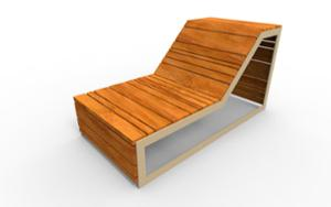 street furniture, ławki miejskie, seating, chaise longue, wood backrest, wood seating