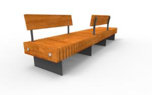street furniture, ławki miejskie, double-sided , seating, modular