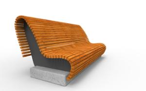 street furniture, ławki miejskie, concrete, smooth concrete, seating, modular, wood backrest, wood seating, sofa, high backrest
