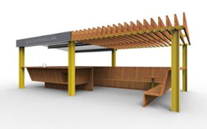 street furniture, other, breastfeeding, seating, pergola, canopy, high backrest