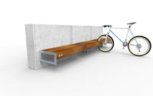 street furniture, ławki miejskie, attached to wall, bench, modular, for wheel, bicycle stand, multiple stands