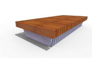 street furniture, ławki miejskie, concrete, smooth concrete, vertical planks, horizontal planks, bench, wood seating