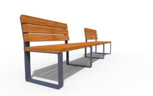 street furniture, ławki miejskie, double-sided , bench, seating, modular, wood backrest, wood seating