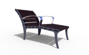 street furniture, ławki miejskie, seating, chaise longue, armrest