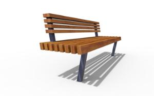 street furniture, ławki miejskie, seating, pole mounted, wood backrest, wood seating