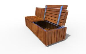 street furniture, ławki miejskie, seating, wood backrest, wood seating, storage box